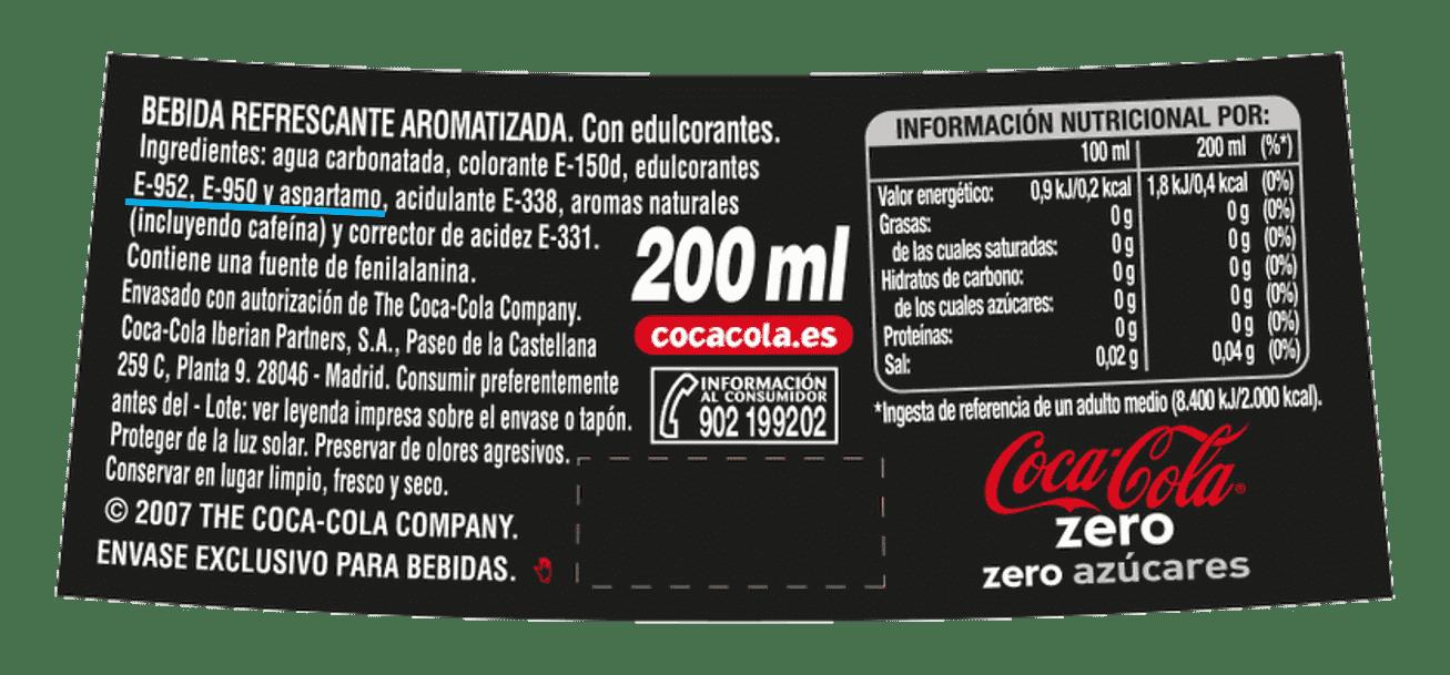 etiqueta cocacola 0
