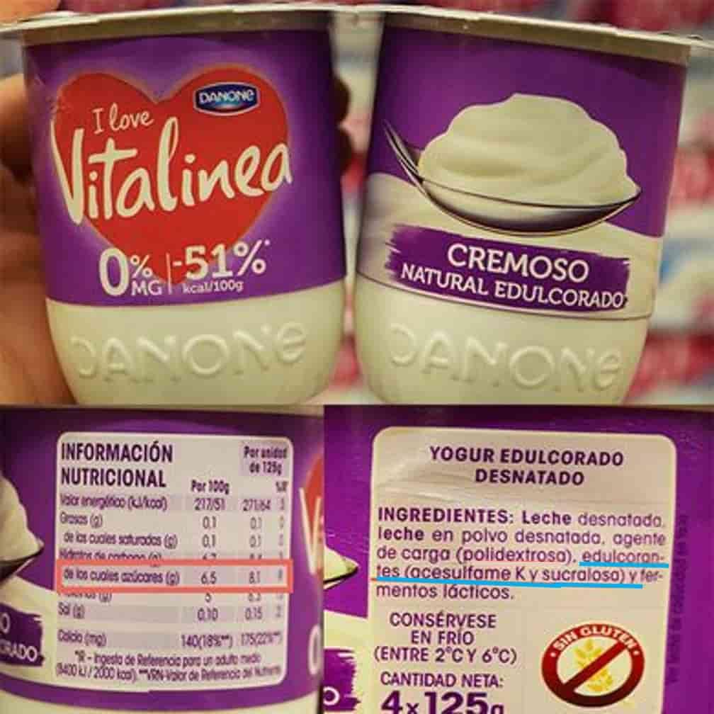 etiqueta yogures vitalinea desnatado