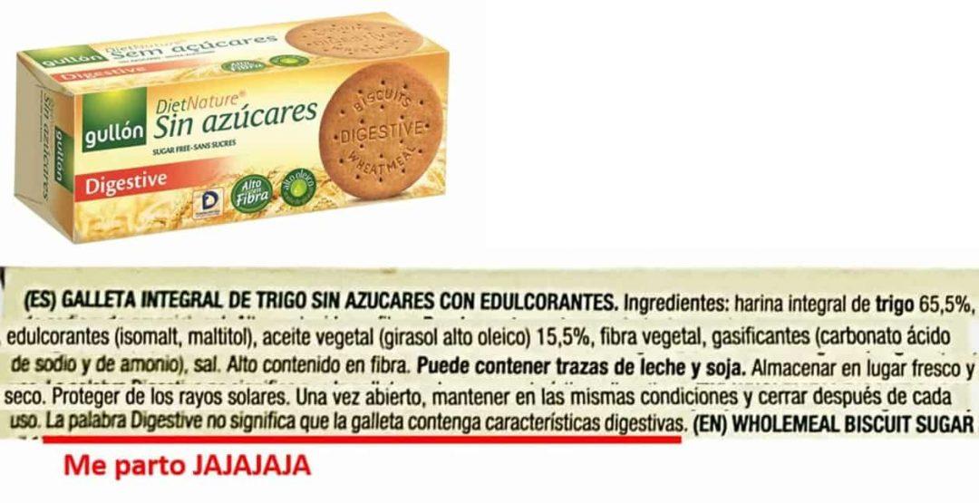 etiqueta galletas digestive